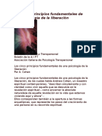 Los cinco principios fundamentales de una psicología de la liberación
