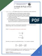 2 Criterio para estado de flujo crítico