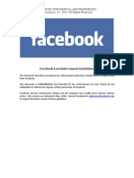 Facebook 2010 Law Enforcement Guidelines