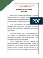BRP Presentation Narrative Report