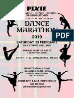 Dance Marathon poster 2019
