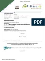 EuPlătesc.ro - Detalii despre tranzacție