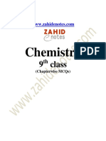 9th class chemistry mcqs english medium