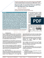 Knowledge Regarding Sexually Transmitted Disease (STD's) among B.Sc. Nursing First Year Students