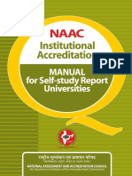 NAAC Approval - University Manual