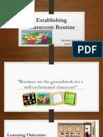Establishing  Classroom Routine