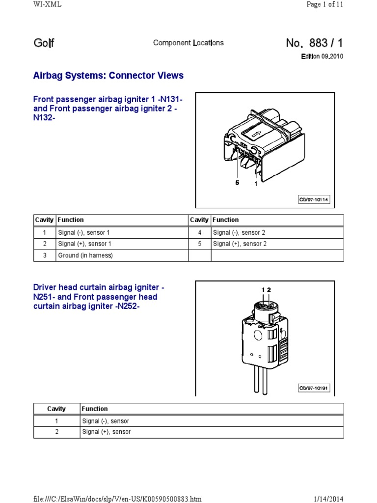 [SODI_2457]   MK6 Golf GTI Wiring Diagrams & Component Locations.pdf | Airbag | Seat Belt | Wiring Diagram Rev Limiter Vw Golf Gti |  | Scribd