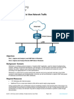 3.7.10 Lab - Use Wireshark to View Network Traffic