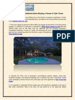 Things to Be Considered Before Buying a House in Tyler Texas