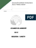 EXAMEN DE ADMISION 2015