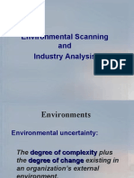 env.scanning and industry analysis