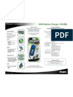 Energizer Recharge USB Specifications