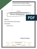 tp n1 mesure de résistance