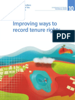 Improving ways to record tenure rights