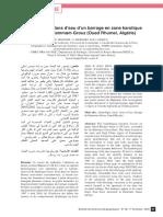 Hydrologie et bilans d'eau d'un barrage en zone karstique  semi-aride - Hammam Grouz (Oued Rhumel  Algérie)