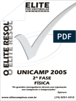 Unicamp 05 Fase2 Fis ELITE