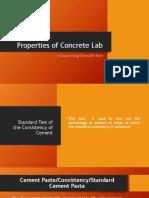Properties of Concrete Lab