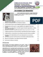 1.LOS MITOS SOBRE  LAS MISIONES -Agosto 2020