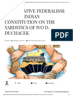 COMPARATIVE FEDERALISM_ TESTING INDIAN CONSTITUTION ON THE YARDSTICS OF IVO D. DUCHACEK – Rostrum's Law Review