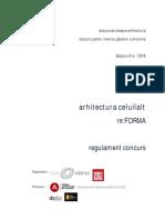 Arhitectura Celuiallt -REGULAMENT