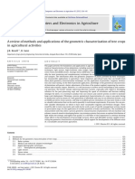 A review of methods and applications of the geometric characterization of tree crops in agricultural activities