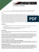 la gestion interdisciplinaire des résultats des patients.