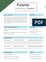 Blue Rectangular Engineer Resume