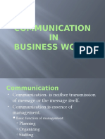Communication in Business World