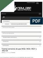 Tutorial sensores de gas MQ2, MQ3, MQ7 y MQ135