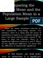 Comparing the Sample Mean and the Population Mean in a Large Sample Size