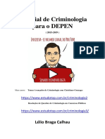 DEPEN - Concurso 2020 - Material preliminar de Criminologia.