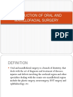 INTRODUCTION OF ORAL AND MAXILLOFACIAL SURGERY