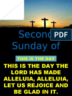 2ND SUNDAY OF EASTER APRIL 28, 2019