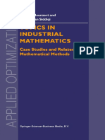 (Applied Optimization 42) Helmut Neunzert, Abul Hasan Siddiqi (auth.) - Topics in Industrial Mathematics_ Case Studies and Related Mathematical Methods-Springer US (2000)