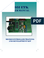 User Manual 8051 Training Kit