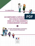 Guide Methodologique Espaces Parents