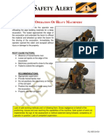 UNSAFE OPERATION OF HEAVY MACHINERY-HSE ALERT