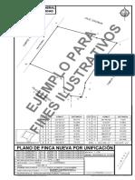 11 EJEMPLO PLANO DE FINCA NUEVA POR UNIFICACION