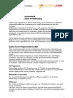 Anleitung Finanzierungsdatenbank Baden-Württemberg