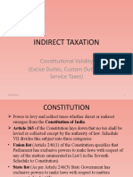 Constitutional Validity (Excise Duties, Custom Duties & Service Taxes)