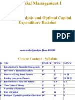 11. Risk Analysis and Optimal Capital Expenditure Decision
