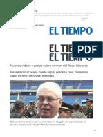 Nuevos videos y pistas sobre crimen del fiscal Libreros