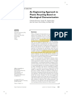 An Engineering Approach to Plastic Recycling Based on Rheological Characterization