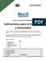 INDICACIONES PARA EL APLICADOR Y ORIENTADOR VF