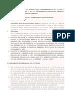 SOLICITO REAJUSTE DE BONIFICACIÓN POR