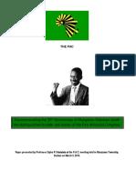 35th Anniversary of Mangaliso Sobukwe Commemoration