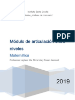 Módulo Ingreso Secundaria 2019
