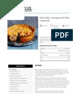 Ham hock, sausage and cider raised pie - delicious