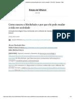 Como nasceu o blockchain e por que ele pode mudar a vida em sociedade - 29_12_2019 - Ilustríssima - Folha.pdf