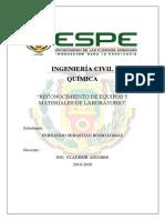 Reconocimiento de Equipos y Materiales Laboratorio
